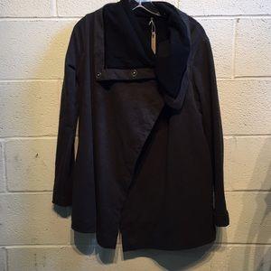 Lululemon heathered black jacket, sz 10, 58259